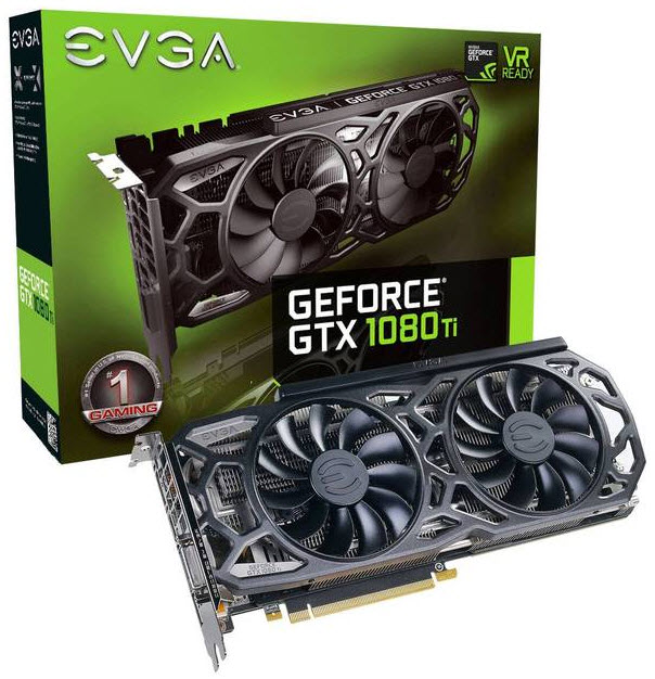 EVGA NVIDIA GeForce GTX 1080 Ti GAMING 11GB GDDR5X PCI-E